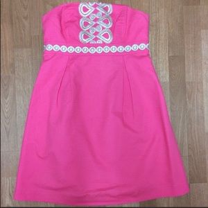Pink strapless Lily Pulitzer dress